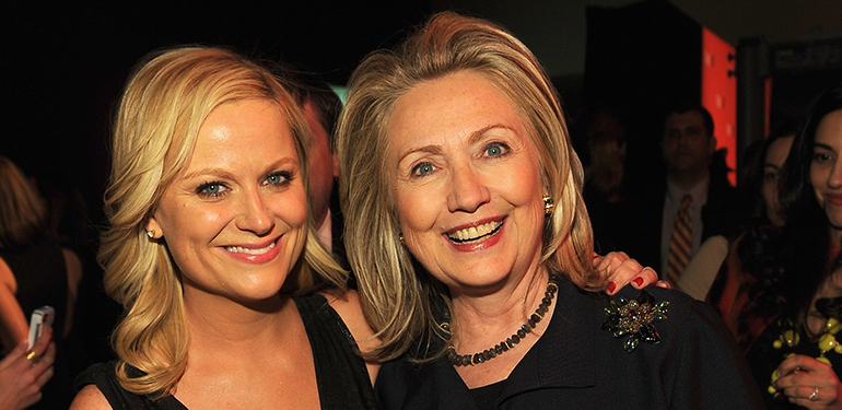 Amy Poehler and Hillary Rodham Clinton