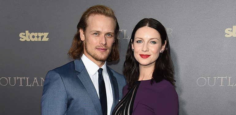 Sam Heughan and Catriona Balfe